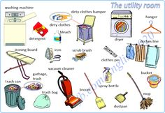 Vocabulary: The utility room