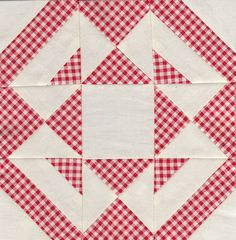 Jack knife - Farmer's wife quilt sampler by Antípodas, via Flickr