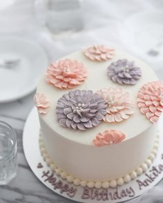 Wedding Cake Design Ideas Pictures Simple Designs Best On Whale Cakes Simple Birthday Cake Designs, Cake Designs For Girl, Simple Cake Designs, Simple Birthday Cakes, Girly Cakes, Cute Cakes, Pretty Cakes, Beautiful Cakes, Birthday Cake Decorating