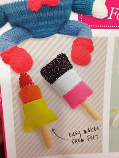 Felt ice lollies from Molly Makes
