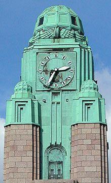 Tower, Train Station, Helsinki, Finland, courtesy Totti Turinen - Visitor Contributions Gallery - Decopix - The Art Deco Architecture Site
