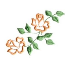 Heirloom Double Roses embroidery design