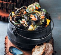 This Creamy Mussel Potjie makes an incredible starter. Serve with bread.