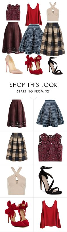 """"""".."""" by alma-mesic on Polyvore featuring Chicwish, Rumour London, Alberta Ferretti, Carvela, WithChic, Christian Louboutin, women's clothing, women's fashion, women and female"""