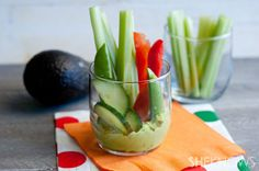 veggie cups with green goddess dip