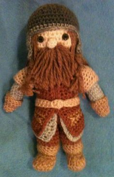 "Gimli, from ""Lord of the Rings"" - amigurumi"