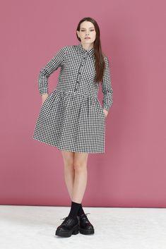 Long Sleeve Check Shirt Dress