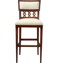 Ilsa Bar Stool (Figure-Eight Panel) from the Alexa Hampton® collection by Hickory Chair Furniture Co.