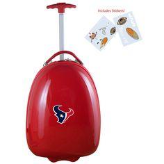 Denco Sports Houston Texans Kids' Hardside Carry-on Suitcase