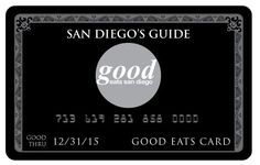 Get 20% OFF  Introducing the Good Eats Card, an easy-to-use, discount dining membership card! When dining at one of our participating restaurants simply present your Good Eats Card with your payment and save!