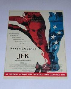 JFK Film Movie Original Advert from a magazine - Kevin Costner - 1992