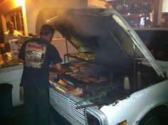 This amazing under the hood grill. | 24 Incredible Examples Of Mexican Ingenuity