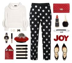 """Joyous Time of The Year"" by celida-loves-pink ❤ liked on Polyvore featuring Guild Prime, Christian Louboutin, Burberry, Valentino, Marni, Kate Spade, National Tree Company, Georgia Perry, Furla and STOW"