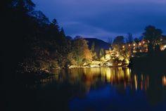 Sheen Falls by night