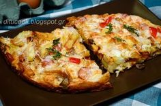 Ομελέτα φούρνου Cookbook Recipes, Sweets Recipes, Cooking Recipes, Weight Watchers Meals, Greek Recipes, Other Recipes, Starters, Quiche, Stuffed Mushrooms