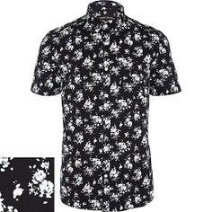 White And Black Mens Shirt