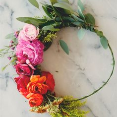 Flower crown with ombre ranunculus