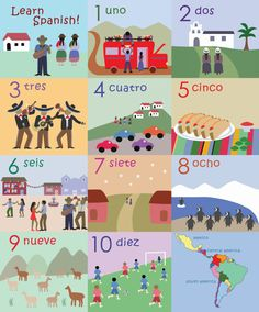Numbers in Spanish by TheLittleTraveler on Etsy, $120.00