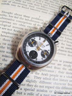 "For Sale - 1970s Citizen 8110 Bullhead Automatic ""Challenge Timer"" Chronograph, w/Pelican Travel Case"