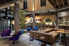 Modern Classic Hotels Designing House Interior Maximally: Surprising 1888 Hotel Lobby With Smart Blend Of Rustic Architecture And Modern Fur. Lobby Do Hotel, Hotel Mallorca, Estilo Hipster, Interior And Exterior, Interior Design, Arch Interior, Wallpaper Magazine, Piece A Vivre, Industrial Chic