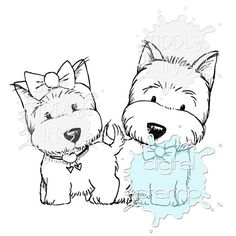 Puppy Love | Digital Stamps | Tiddly Inks