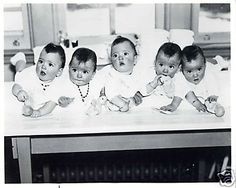 Dionne QuintupletsThe Dionne quintuplets, born May 28, 1934, are the first quintuplets known to survive their infancy. The sisters were born just outside Callander, Ontario, Canada near the village of Corbeil. The Dionne girls were born two months premature. After four months with their family, they were made wards of the King for the next nine years. The government and those around them began to profit by making them a significant tourist attraction in Ontario.