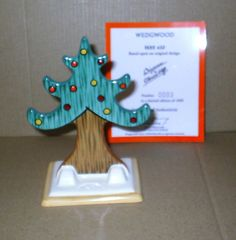 Wedgwood Clarice Cliff Bizarre Christmas Tree of by CrackingChina on Etsy Clarice Cliff, Colorful Christmas Tree, Wedgwood, Earthenware, Birthday Candles, Deco, Etsy, Design, Decoration