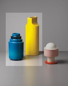 PHILLIPS : UK050213, Ettore Sottsass, Jr., Two vases, model no. 592 from the 'Fischietto' series and model no. 610