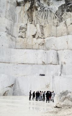 Carrara marble mountain