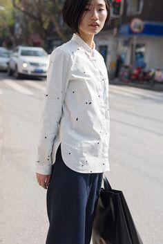JNBY / Soft leather shopper