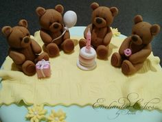 Fondant Teddy-Toppers