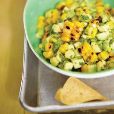 Avocado Salsa And Grilled Corn Tapas Recipes, Appetizer Recipes, Healthy Recipes, Appetizers, Appetizer Ideas, Healthy Foods, Cooking Recipes, Vegetable Sides, Vegetable Recipes
