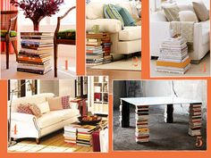 Decorate with books