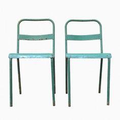 Mid-Century Italian Metal Garden Chairs, Set of 2