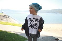 all the good vibes shirt, good vibes only, good vibe tribe, unisex baby clothes, baby girl boy infant gift, hipster clothes, WHITE