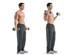 1. STANDING DUMBBELL CURL http://www.menshealth.com/fitness/best-biceps-exercises/slide/2