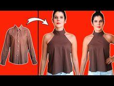 #12 TRANSFORMAR CAMISA DE HOMBRE EN UNA ESPECTACULAR BLUSA DE MUJER - MariG - YouTube Sewing Clothes Women, Diy Clothes, T Shirt Hacks, Remake Clothes, Shirt Refashion, Diy Fashion, Outfits, Future, Ideas
