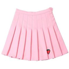 Strawberry Mini Skirt ($23) ❤ liked on Polyvore featuring skirts, mini skirts, bottoms, pink mini skirt, mini skirt, pink skirt, short skirts and short pink skirt