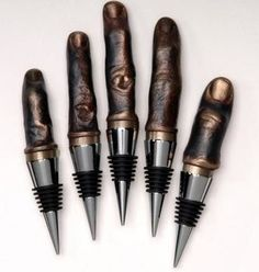 wine stoppers - these are a bit weird but original