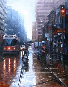 Rainy day watercolour in Toronto - a great shot Queen Street Toronto, Toronto Ontario Canada, Famous Castles, Downtown Toronto, Cool Photos, Amazing Photos, Places Ive Been, Beautiful Places, Places To Visit