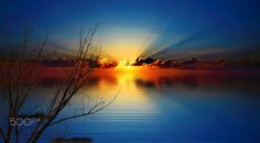 sunset waterfront by Bucco Costel Fine Art, Celestial, Sunset, Night, Outdoor, Sunsets, Outdoors, Outdoor Living, Garden
