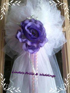 Alter Tulle & Rose Bow wedding decor by LindasWeddingFrills, $20.00