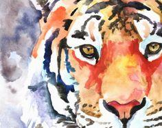 Impresión del arte colorido tigre regalos arco por TheColorMaven