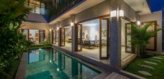 This brand new 4 bedroom villa in superbly located in Jalan Werkudara, Legian, Bali. Just 30m from the entry to Kumala Pantai Hotel. This smartly designed and stylishly presented Villa Raffaela is superbly located for those seeking a holiday location which is just 400 meters from the famous double six beach, and surrounded by many popular and well known restaurants, cafes, shopping and nightlife