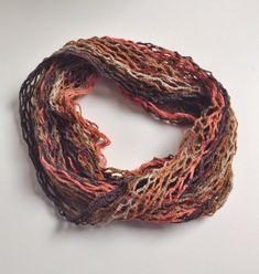 Flaming summer cowl scarf neck warmer por GabyCrochetCrafts en Etsy