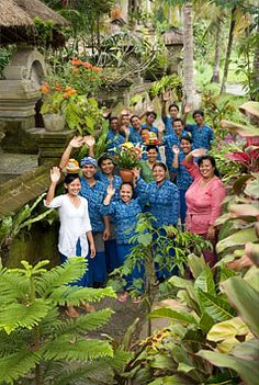 These are the wonderful folks at the place we stayed in Bali - Alam Jiwa, in the outskirts of Ubud.