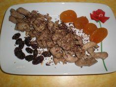 Pavo con frutos secos y chocolate negro, almendrado