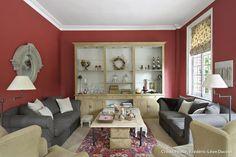 Osez les couleurs chez vous: salon rouge meubles beige