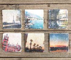 Instagram Coasters Tutorial - Photo Transfer Gift DIY
