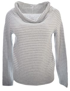 James Perse Striped Drape Neck Pullover Top Sweater size 1 100% cotton NWT $145 #JamesPerse #KnitTop #Casual